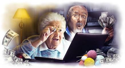 пенсионеры в интернете