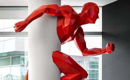 красный мужчина