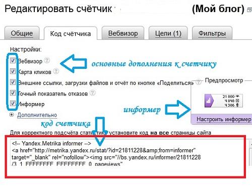 редактировать счетчик